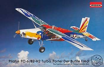 Roden Model Aircrafts Pilatus PC-6/B2-H2 Turbo Der Bunte Fredi -- Plastic Model Airplane Kit -- 1/48 Scale -- #rd044