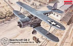 Roden Beechcraft GB-2 Staggerwing Plastic Model Airplane Kit 1/48 Scale #rd0447