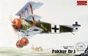 Roden Fokker Dr.1 Triplane Plastic Model Airplane Kit 1/32 Scale #rd0601