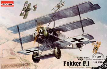 Roden Model Aircrafts Fokker F.1 Triplane -- Plastic Model Airplane Kit - 1/32 Scale -- #rd0605