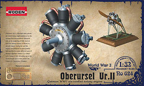 Roden Oberursel Ur.II Engine Plastic Model Engine Kit 1/32 Scale #rd0624