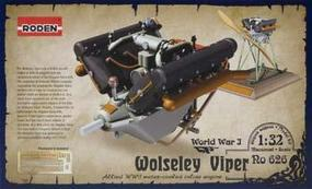 Roden Wolseley Viper Engine Plastic Model Engine Kit 1/32 Scale #rd0626