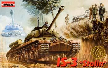 Roden Model Aircrafts IS-3 Stalin Tank -- Plastic Model Tank Kit -- 1/72 Scale -- #rd0701