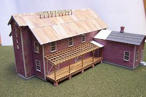 RS-Laser Wills Feed & Grain HO Scale Model Railroad Building #2008