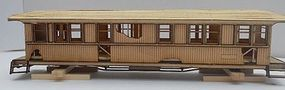 RS-Laser Derelict Passenger Car Kit HO Scale Model Railroad Building #2017