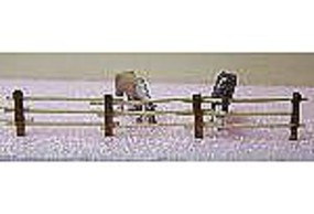 RS-Laser Split 3 Rail Fence Kit HO Scale Model Railroad Building Accessory #2511