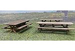 RS Laser Kits Picnic Tables 6 Pack Kit -- HO Scale Model Railroad Building Accessory -- #2515