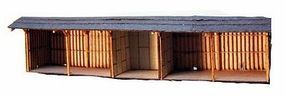 RS-Laser F&S 5 Bay Open Shed Kit N Scale Model Railroad Building #3009