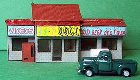RS-Laser 24-7 Deli Kit N Scale Model Railroad Building #3014