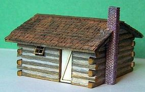 RS-Laser Log Cabin Kit N Scale Model Railroad Building #3016