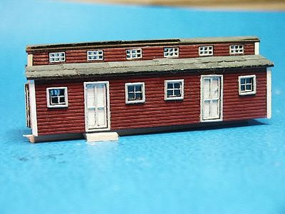 Logging bunk house car kit n scale model railroad building for Bunk house kits