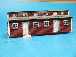 RS-Laser Logging Bunk House Car Kit N Scale Model Railroad Building #3019
