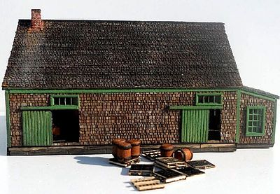 RS Laser Kits Potato House Kit -- N Scale Model Railroad Building -- #302