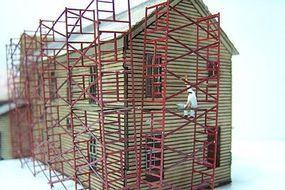 RS-Laser Scaffolding Kit N Scale Model Railroad Building Accessory #3513