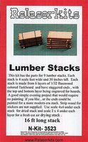 RS-Laser Lumber Stacks Kit N Scale Model Railroad Building Accessory #3523