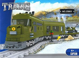 RRtrainblocks Military Train Set 764p