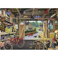 Ravensburger Grandpas Garage 300pcs Large Format Jigsaw Puzzle 0-599 Piece #13578