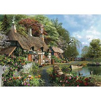 Ravensburger Cottage on a Lake 300pcs Large Format Jigsaw Puzzle 0-599 Piece #13580
