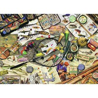 Ravensburger Fishing Fun 1000pcs Jigsaw Puzzle 600-1000 Piece #19600