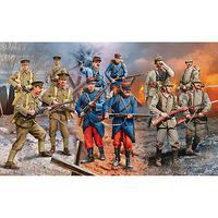 Revell-Germany WWI German/British/French Infantry Plastic Model Military Figure Kit 1/35 Scale #02451