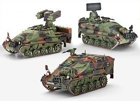 Revell-Germany Wiesel 2 LeFlaSys (Ozelot & AFF & BF/UF) Plastic Model Military Vehicle 1/35 Scale #03205