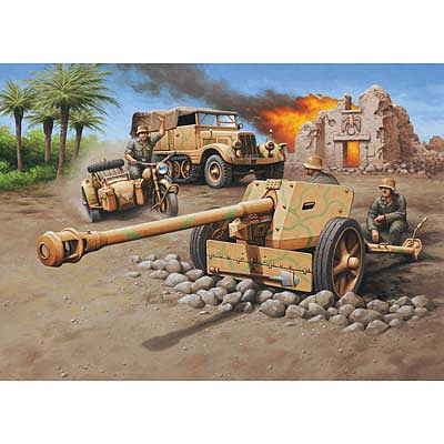 Revell of Germany Sd.Kfz. 11 + Pak 40 -- Plastic Model Military Vehicle Kit -- 1/76 Scale -- #03252