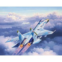 Revell-Germany SU-27 Flanker Plastic Model Airplane Kit 1/144 Scale #03948