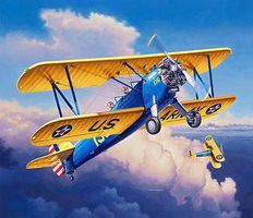 Revell-Germany Stearman P-17 Kaydet Plastic Model Airplane Kit 1/72 Scale #03957