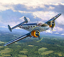 Revell-Germany C-45F Expeditor Plastic Model Airplane Kit 1/48 Scale #03966