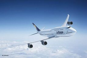 Revell-Germany Boeing 747-8 Lufthansa Plastic Model Airplane Kit 1/144 Scale #04275