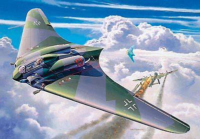 Revell of Germany Horten Go229 Flying Wing Aircraft -- Plastic Model Airplane Kit -- 1/72 Scale -- #04312