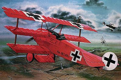 Revell of Germany Fokker DR.I Manfred Von Richthofen Triplane -- Plastic Model Airplane Kit -- 1/28 Scale -- #04744