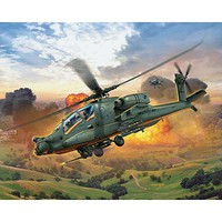 Revell-Germany AH-64A Apache Plastic Model Helicopter Kit 1/100 Scale #04985