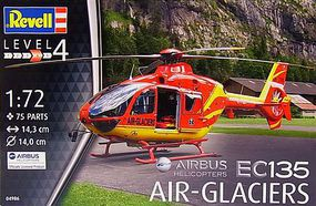 Revell-Germany EC135 Air-Glaciers Plastic Model Helicopter Kit 1/72 Scale #04986