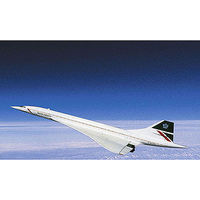 Revell-Germany Concorde British Airways Plastic Model Airplane Kit 1/72 Scale #04997