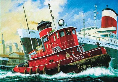 Revell of Germany Harbour Tug Boat -- Plastic Model Ship Kit -- 1/108 Scale -- #05207