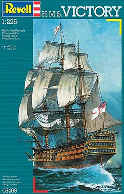 Revell of Germany HMS Victory -- Plastic Model Sailing Ship Kit -- 1/225 Scale -- #05408