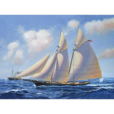 Revell of Germany USS America -- Plastic Model Sailing Ship Kit -- 1/56 Scale -- #05416