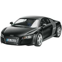 Revell-Germany Audi R8 Black Plastic Model Car Kit 1/24 Scale #07057