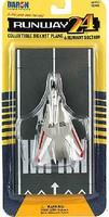 Runway-24 F14 Tomcat (Gray w/Red & White Stripes) Military Plane