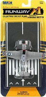 Runway-24 P51 Checkered Nose WWII Plane