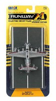 Runway-24 B17 Flying Fortress (Silver) WWII USAAF Plane
