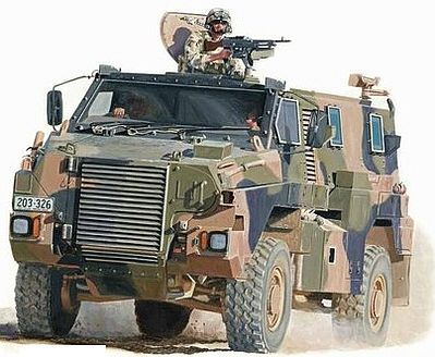 Showcase Models Australian Bushmaster Protected Mobility Vehicle -- Plastic Model Military Truck Kit -- 1/35 -- #35001