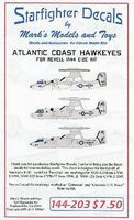 Starfighter Atlantic Coast E2C Hawkeyes for RVL Plastic Model Aircraft Decal 1/144 Scale #144203