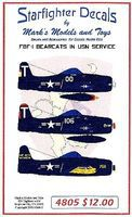 Starfighter F8F1 Bearcats in USN Service Plastic Model Aircraft Decal 1/48 Scale #4805