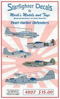 Starfighter Pearl Harbor Defenders Plastic Model Aircraft Decal 1/48 Scale #4807