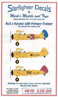Starfighter N2S3 Kaydet Primary Trainer 1940-46 for RMX Plastic Model Aircraft Decal 1/48 Scale #4810