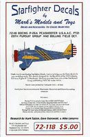 Starfighter P26A Peashooter USAAC Pt.2 20th Pursuit Group Plastic Model Aircraft Decal 1/72 #72118
