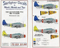 Starfighter TBD1 Devastrators in Color Pt.3 for Airfix Plastic Model Aircraft Decal 1/72 Scale #72123