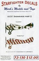 Starfighter AEF Showbirds Pt.2 Plastic Model Aircraft Decal 1/72 Scale #72130